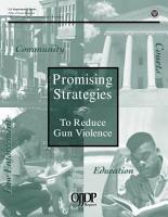 Promising strategies to reduce gun violence report PDF