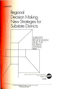 Regional Decision Making  New Strategies for Substate Districts