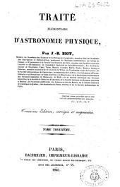 Traité élémentaire d'astronomie physique: Volume3