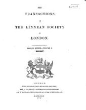 Transactions: Zoology. Second Series