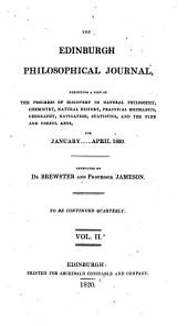The Edinburgh Philosophical Journal: Volume 2