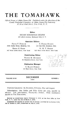 The Tomahawk of Alpha Sigma Phi PDF