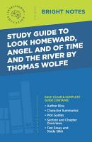 Study Guide to Look Homeward  Angel  and Of Time and the River by Thomas Wolfe PDF