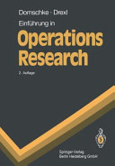 Einf  hrung in Operations Research PDF