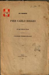 In morte di Pier Carlo Boggio canzone