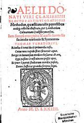 De octo partibus orationis Methodus: quaestiunculis puerilibus undiq[ue]