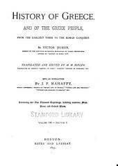 History of Greece, and of the Greek People: From the Earliest Times to the Roman Conquest, Volume 3, Issue 1
