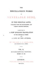 The Complete Works of Venerable Bede: In the Original Latin, Collated with the Manuscripts, and Various Printed Editions, Volume 2