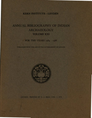 Annual Bibliography of Indian Archaeology PDF