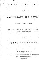 Select Pieces on religious subjects, first published about the middle of the last century