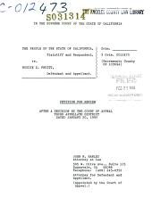 California. Supreme Court. Records and Briefs: S031314, Petition for Review