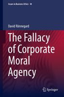 The Fallacy of Corporate Moral Agency PDF