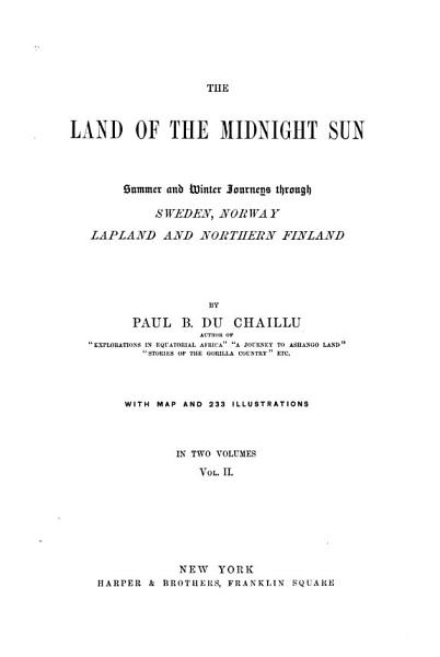 Download The Land of the Midnight Sun Book
