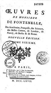 Oeuvres de M. de Fontenelle,...