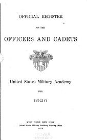 Official Register of the Officers and Cadets