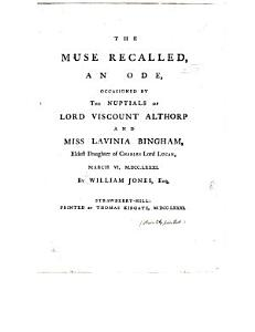 The Muse Recalled  an Ode Book