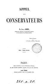 Appel aux conservateurs: 1855