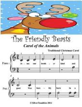 The Friendly Beasts Carol of the Animals - Beginner Tots Piano Sheet Music