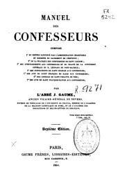 Manuel des confesseurs ...