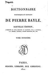 Dictionnaire historique et critique: Volume12