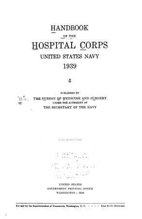 Handbook of the Hospital Corps  United States Navy PDF