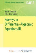 Surveys in Differential Algebraic Equations III PDF