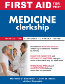 First Aid for the Medicine Clerkship  Third Edition PDF