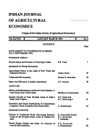 The Indian Journal of Agricultural Economics PDF