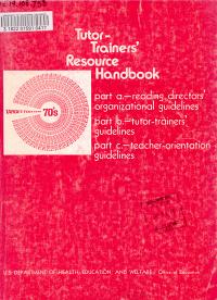 Tutor Trainers  Resource Handbook