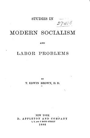 Studies in Modern Socialism and Labor Problems PDF
