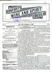 Bonfort's Wine and Spirit Circular: Volume 19