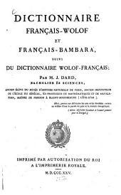 Dictionnaire Francais-Wolof et Français-Bambara: suivi du Dictionnaire Wolof Français