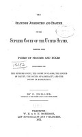 The Statutory Jurisdiction and Practice of the Supreme Court of the United States PDF