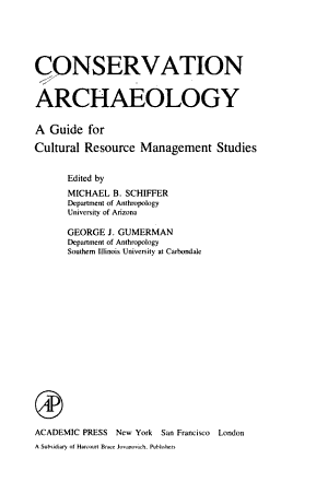 Conservation Archaeology