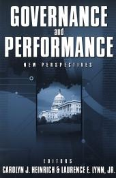 Governance and Performance: New Perspectives