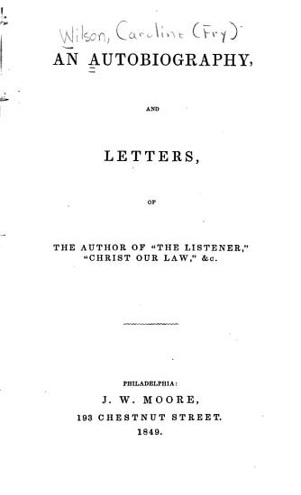 An Autobiography and Letters PDF