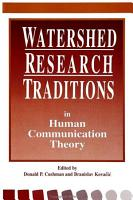 Watershed Research Traditions in Human Communication Theory PDF