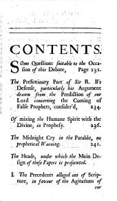 Several Tracts Formerly Published: Now Collected Into One Volume. Viz: A letter to the Reverend Mr. Fleetwood, concerning miracles. Written, A.D. 1702. A letter about the bishop's votes upon the Occasional bill. 1703. A letter to the Reverend Dr. Francis Atterbury, concerning virtue, and vice. 1706. A second letter, in answer to his large vindication. 1708. A vindication of the antient prophets, in answer to Sir R.B. 1709. Some considerations offered to the Lord Bishop of Exeter. 1709. An humble reply to the Lord Bishop of Exeter. 1709. Queries to the authors of the late Discourse of free-thinking. 1713. To which are added, six sermons, never before publish'd: viz. Two sermons concerning the evils, of which Christianity hath been made the occasion. Four sermons concerning the extremes of implicit subjection, and infidelity, Volume 6