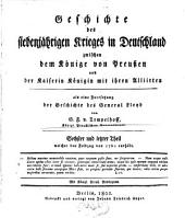 Geschichte des siebenjährigen Krieges in Deutschland: Band 6