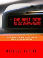 The Best Time to Do Everything PDF