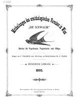 Mittheilungen des Ornithologischen Vereines in Wien PDF