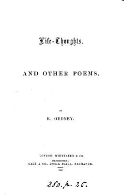 Life thoughts  and Other Poems PDF