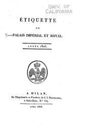 Etiquette du palais impérial et royal: année 1806