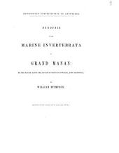 Synopsis of the Marine Invertebrata of Grand Manan: Or the Region about the Mouth of the Bay of Fundy, New Brunswick, Volume 6, Issue 5