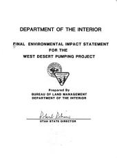 Final environmental impact statement for the West Desert Pumping Project