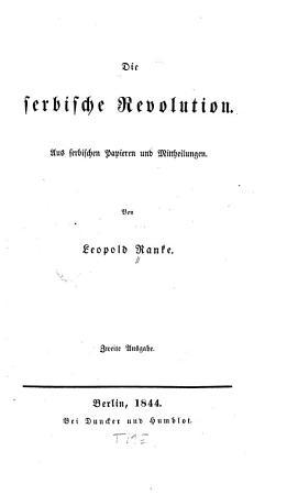 Die serbische Revolution PDF