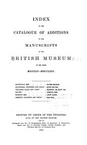 Catalogue of Additions to the Manuscripts: Volume 3