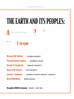 The Earth and Its Peoples PDF