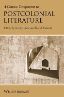 A Concise Companion to Postcolonial Literature PDF