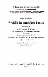 Geschichte der schweizerischen Eidgenossenschaft  bd   1  halbbd  1848 1874  1931 PDF